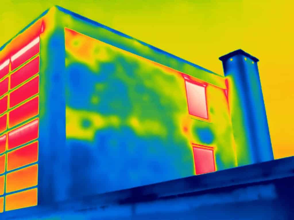 Thermografie inspectie topgevels bij renovatie