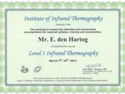 Energiekeurplus is IRT Level 1 gecertificeerd thermograaf