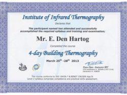 Energiekeurplus is Level 2 gecertificeerd in bouwkundige thermografie