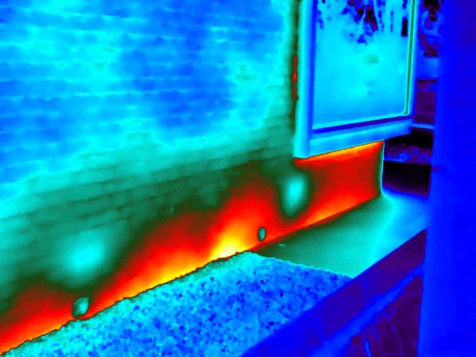 Woning thermografie bij vochtonderzoek