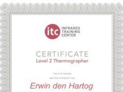 Energiekeurplus is ITC Level 2 en Level 3 gecertificeerd in thermografie