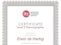 Energiekeurplus is ITC Level 3 gecertificeerd in thermografie.