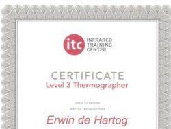 Energiekeurplus is ITC Level 3 gecertificeerd in thermografie