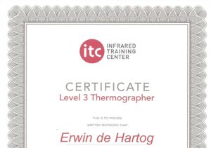 Energiekeurplus is ITC Level 3 gecertificeerd in thermografie