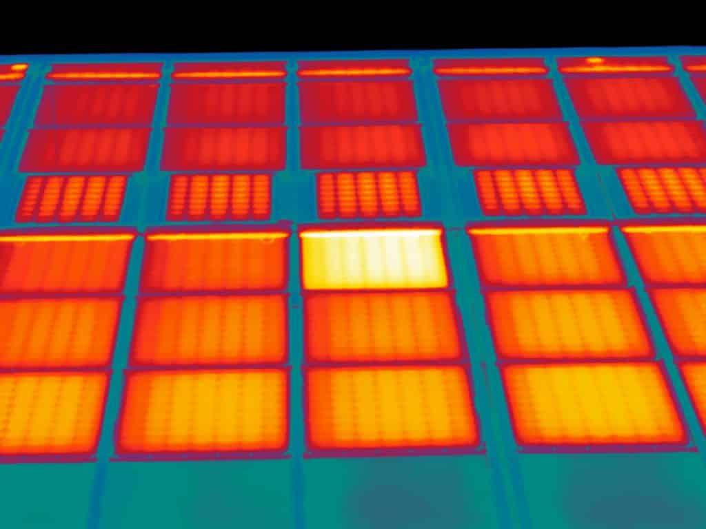 Thermografie bij zonnestroom installatie van Alliander