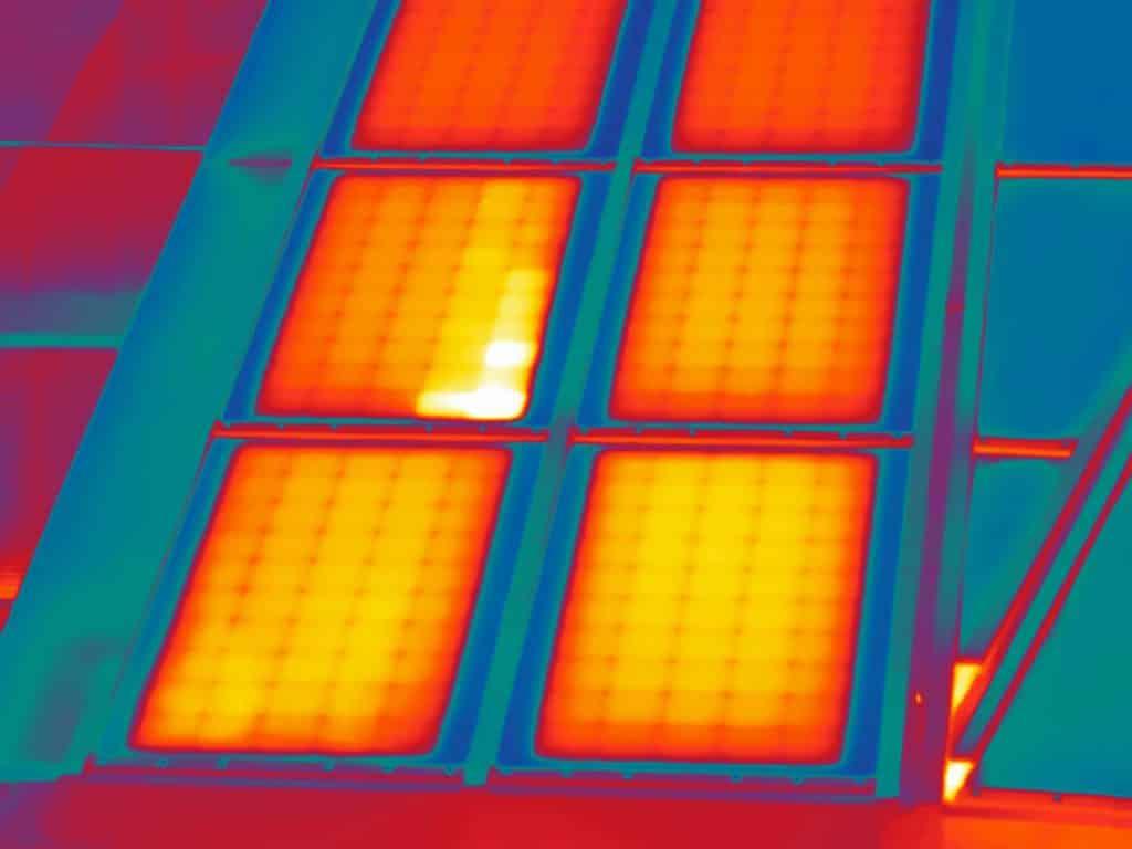 Thermografie zonnepanelen Alliander in Arnhem