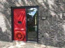 Blowerdoor bij nieuwbouw woning thermografie in Haren.