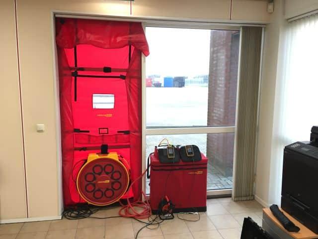 Blowerdoor en thermografie bij Visser ATR in Harlingen