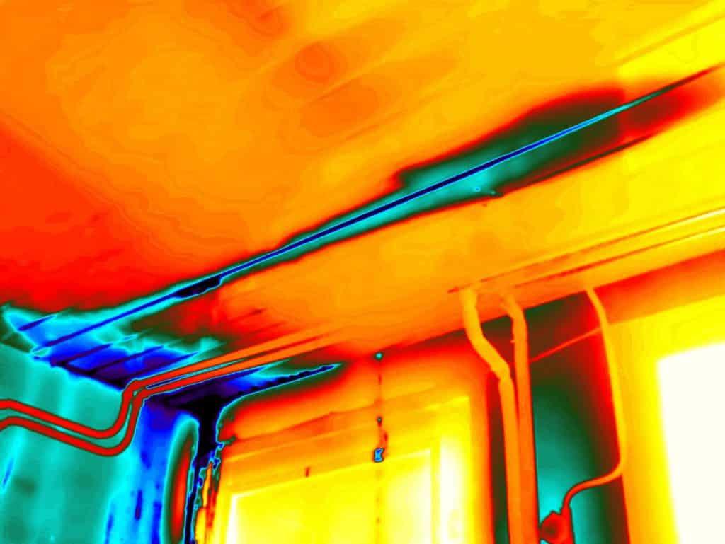 Daklekkage opsporen met thermografie