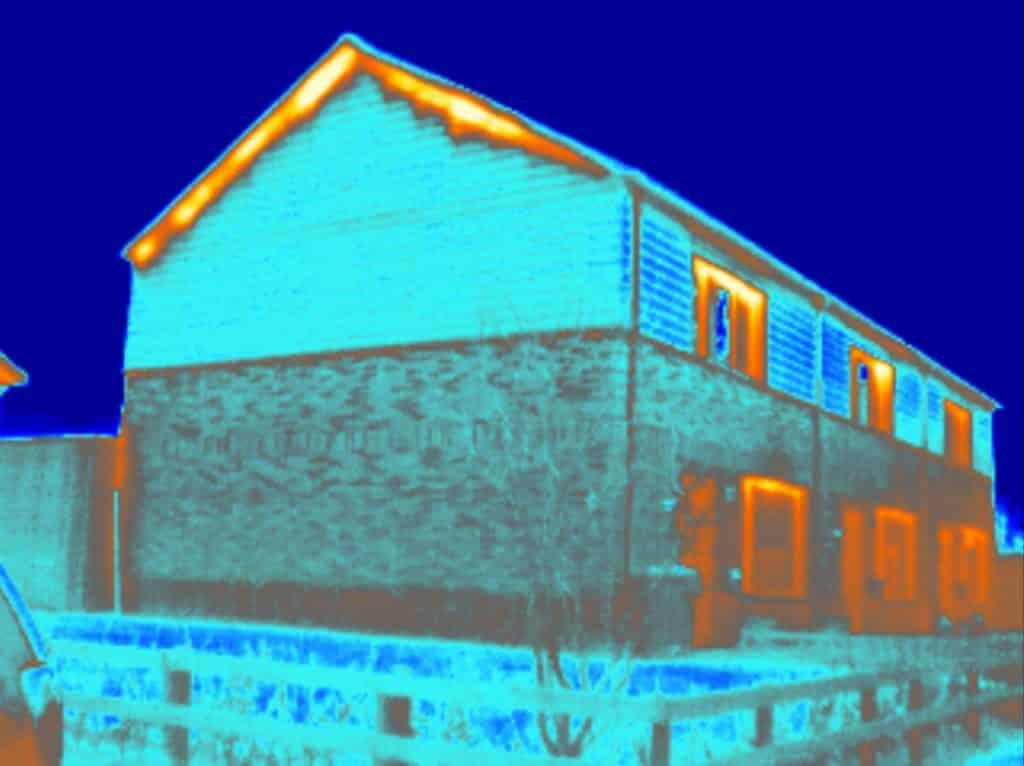Een van de diensten van Energiekeurplus is een gebouw inpectie met gebruik van thermografie