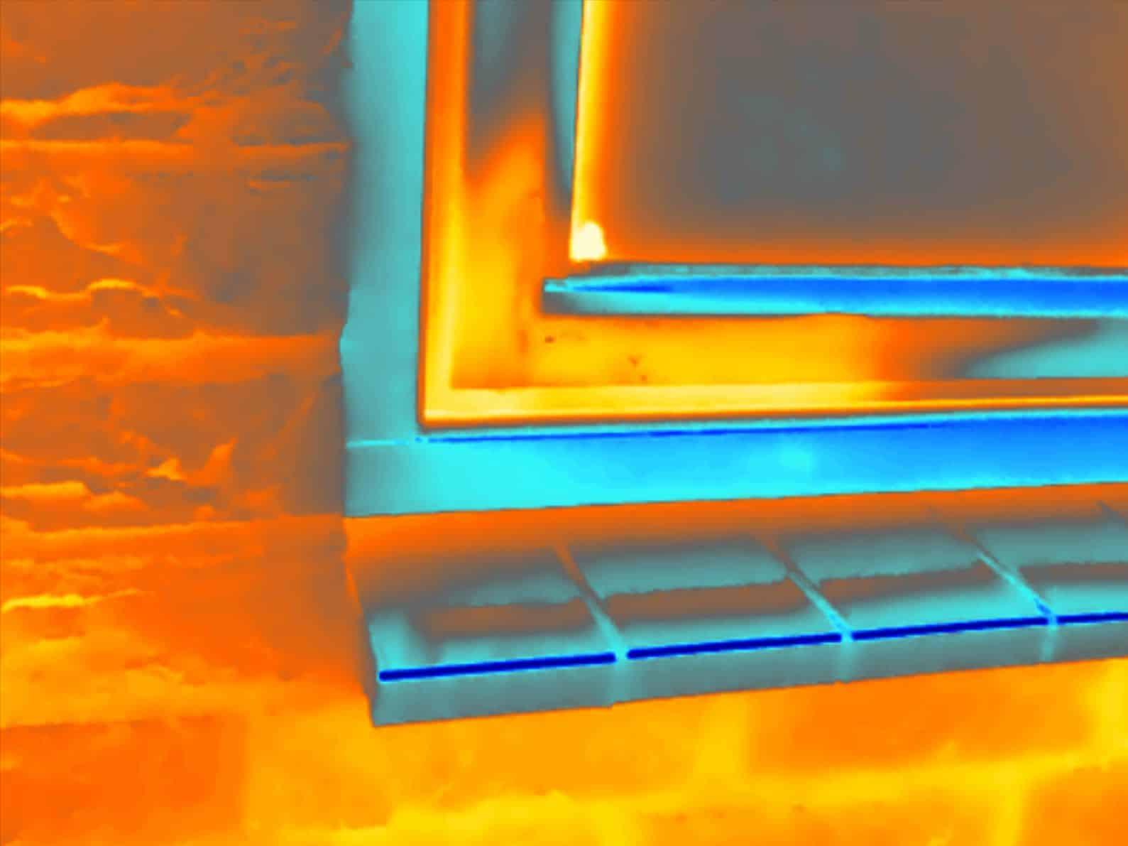 Thermografie bij houtrot in raamkozijn