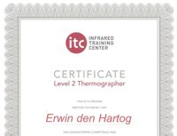 ITC level 2 gecertificeerd in thermografie