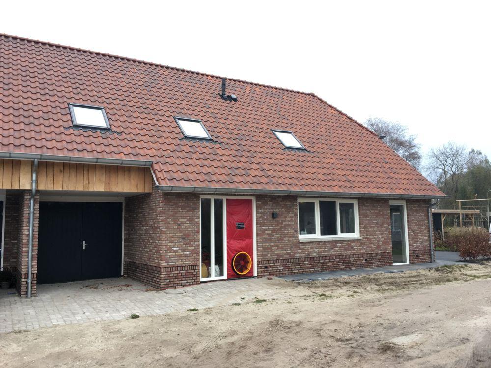 QV10 meting bij een nieuwbouw woning in Rouveen