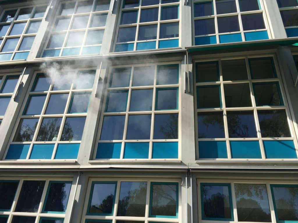Rookproef bij een school in Amsterdam Zuid