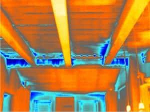 thermografie en blowerdoor bij een woonboerderij in Thesinge