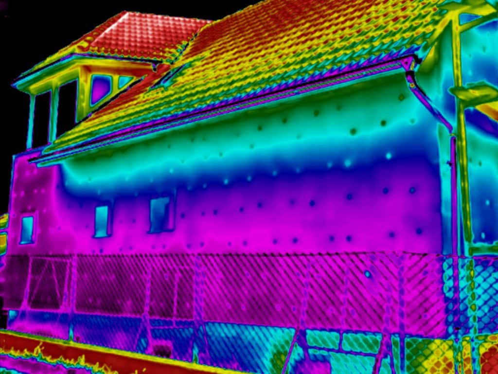 Thermografie controle van buitengevel isolatie