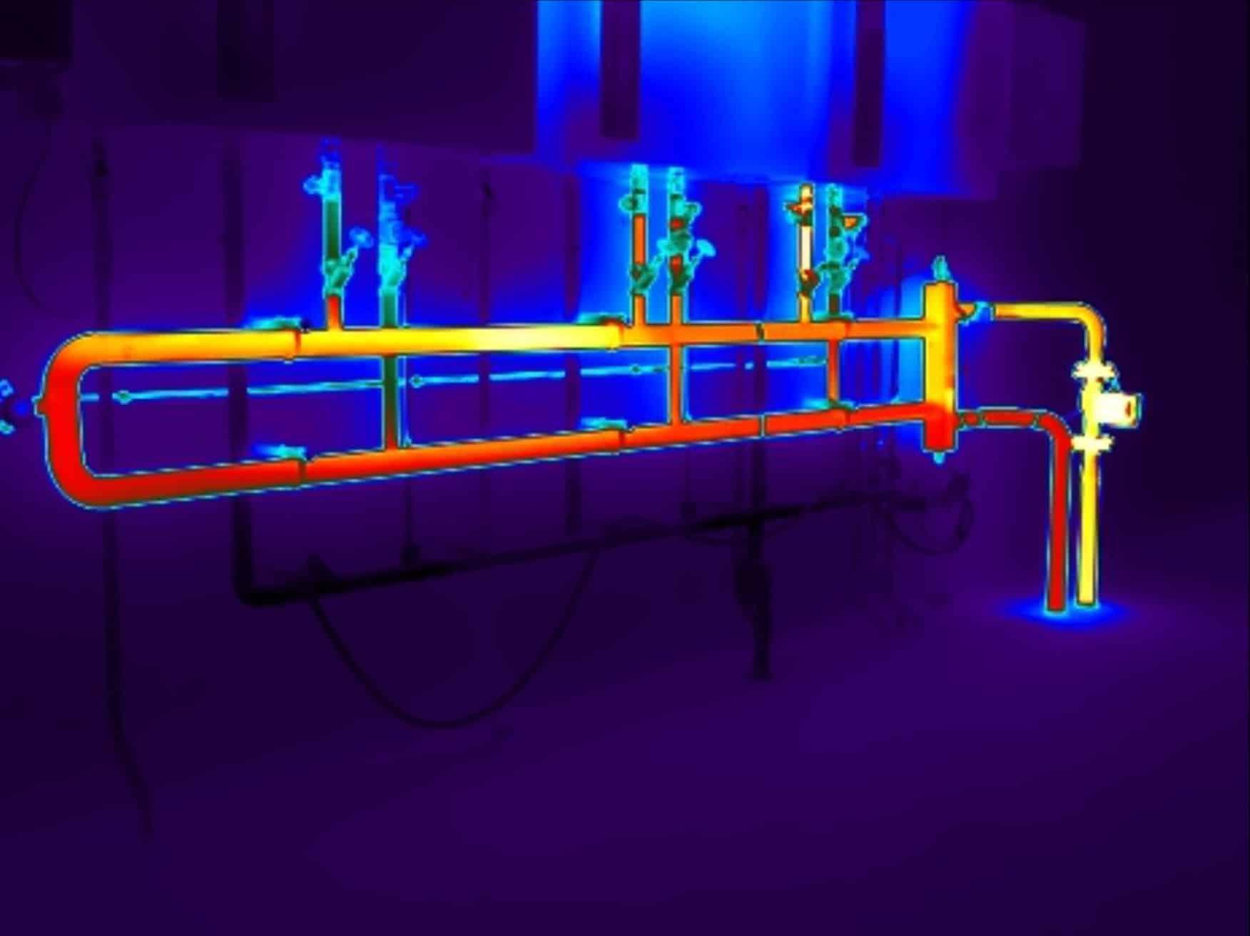 Thermografie toot warmteverlies bij CV leidingen