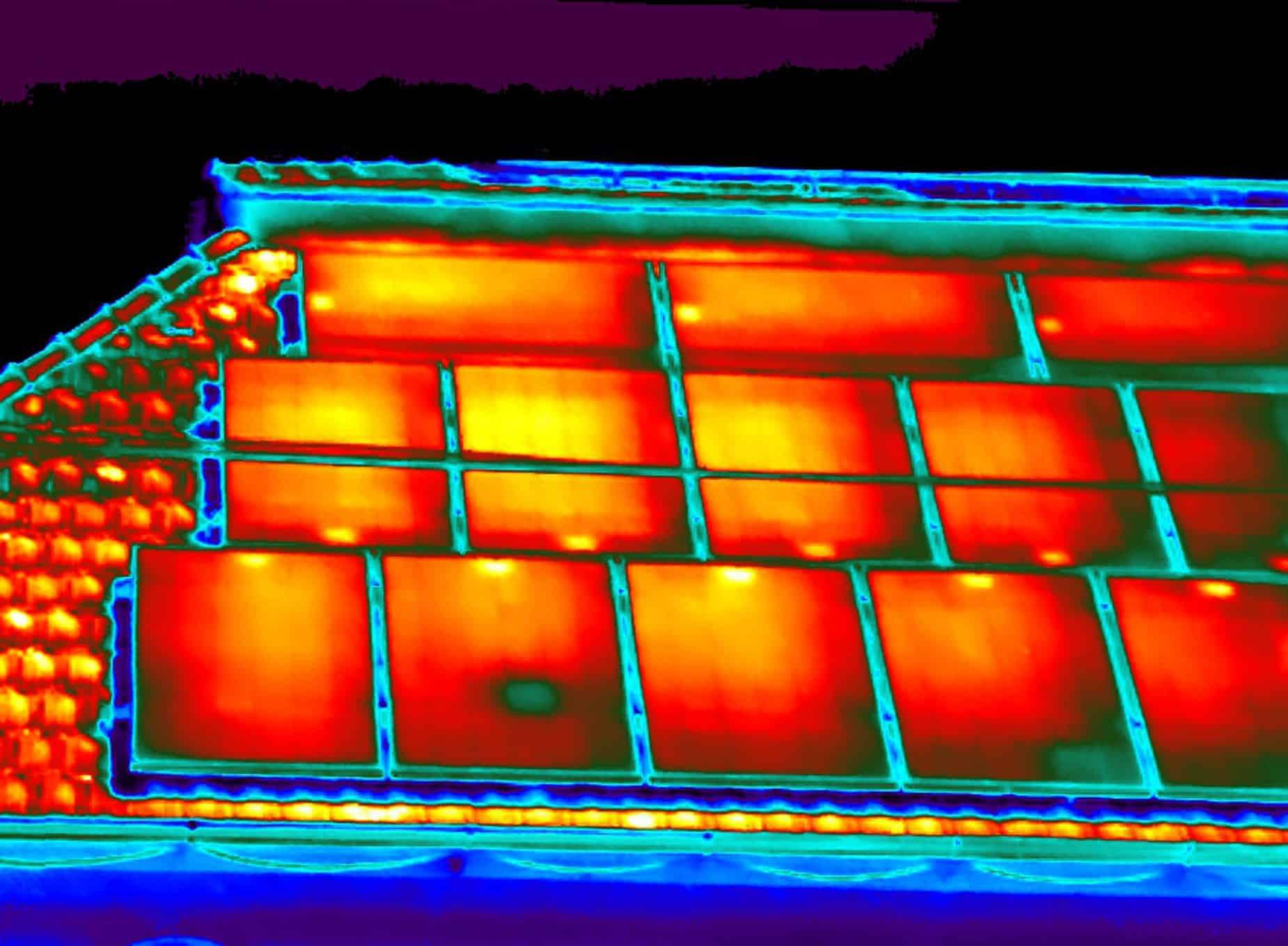 Thermografie bij delaminatie van zonnepanelen
