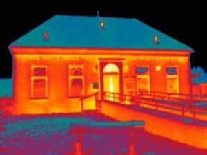 Energieadvies en thermografie inspectie bij het dorpshuis in Roodeschool