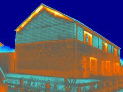 Thermografie bij een energieneutraal huis in Loppersum