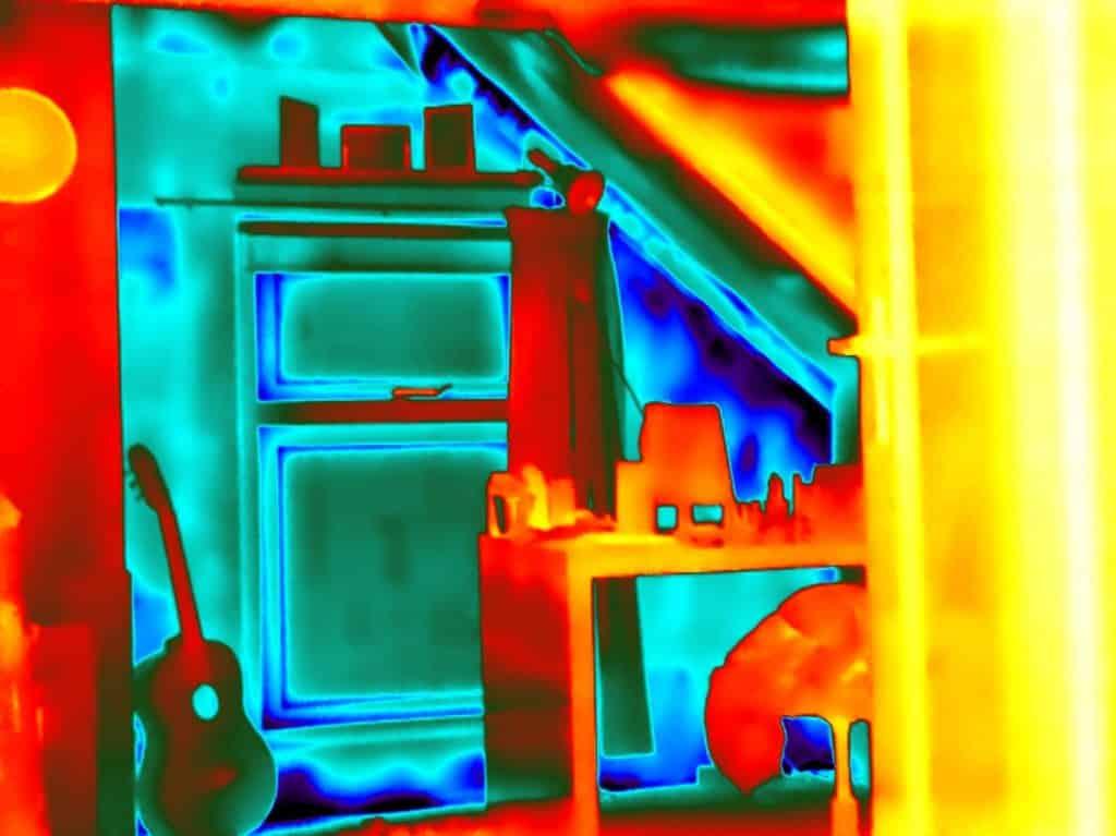 Energiescan woning op basis van blowerdoor & thermografie