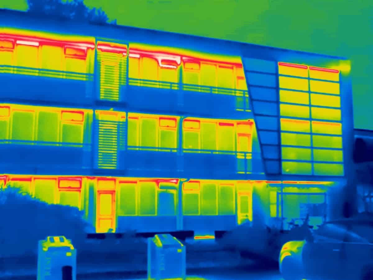 Thermografie inspectie bij renovatie project de Groenhoek in Driebergen