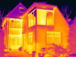 Thermografie bij een woning in Haren