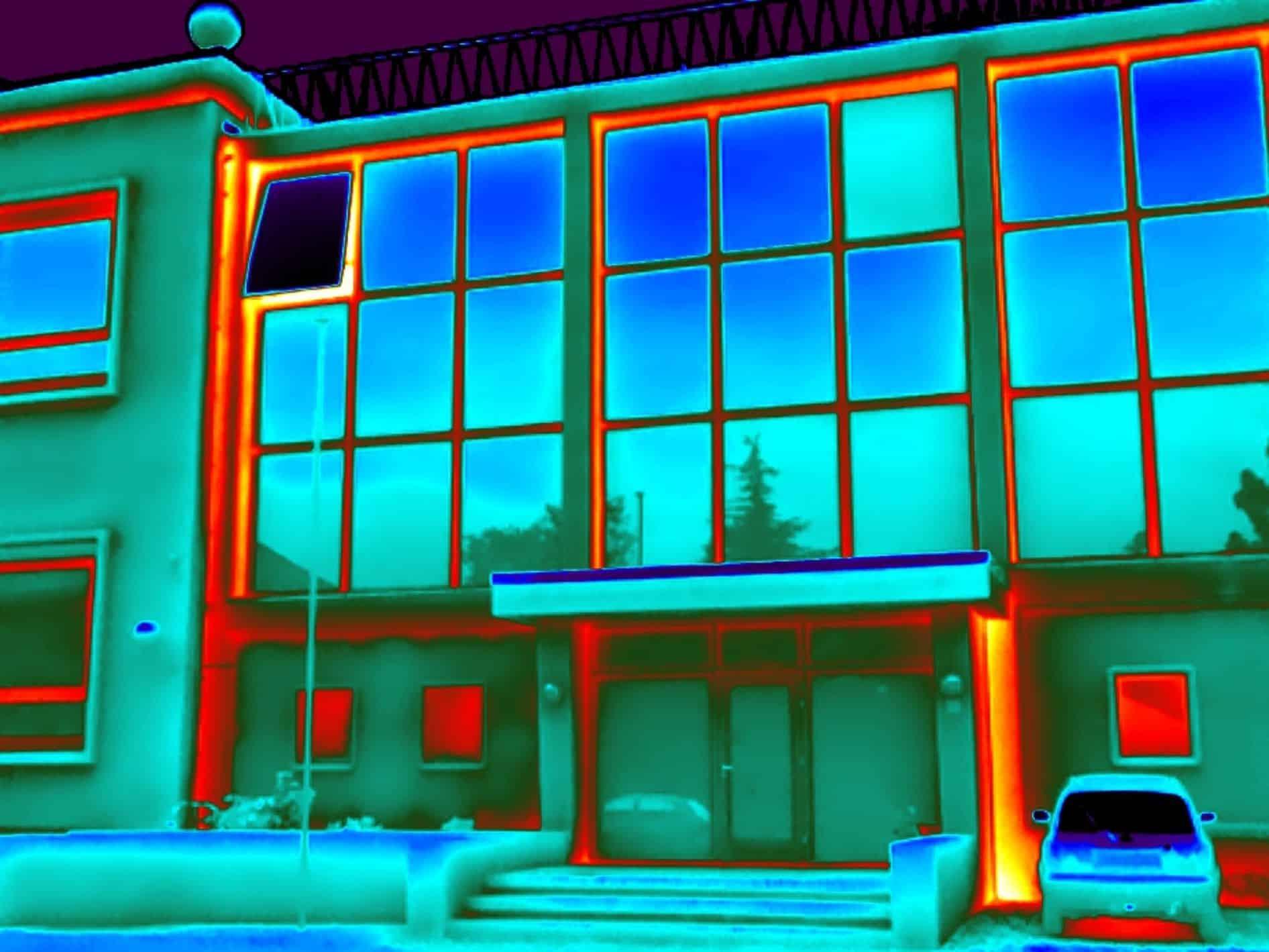 Gebouw thermografie bij appartementen complex in Hengelo