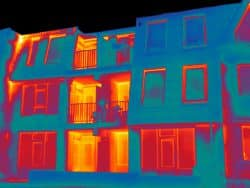 Thermografie inspectie appartementen complex Hutterhof in Hoogeveen