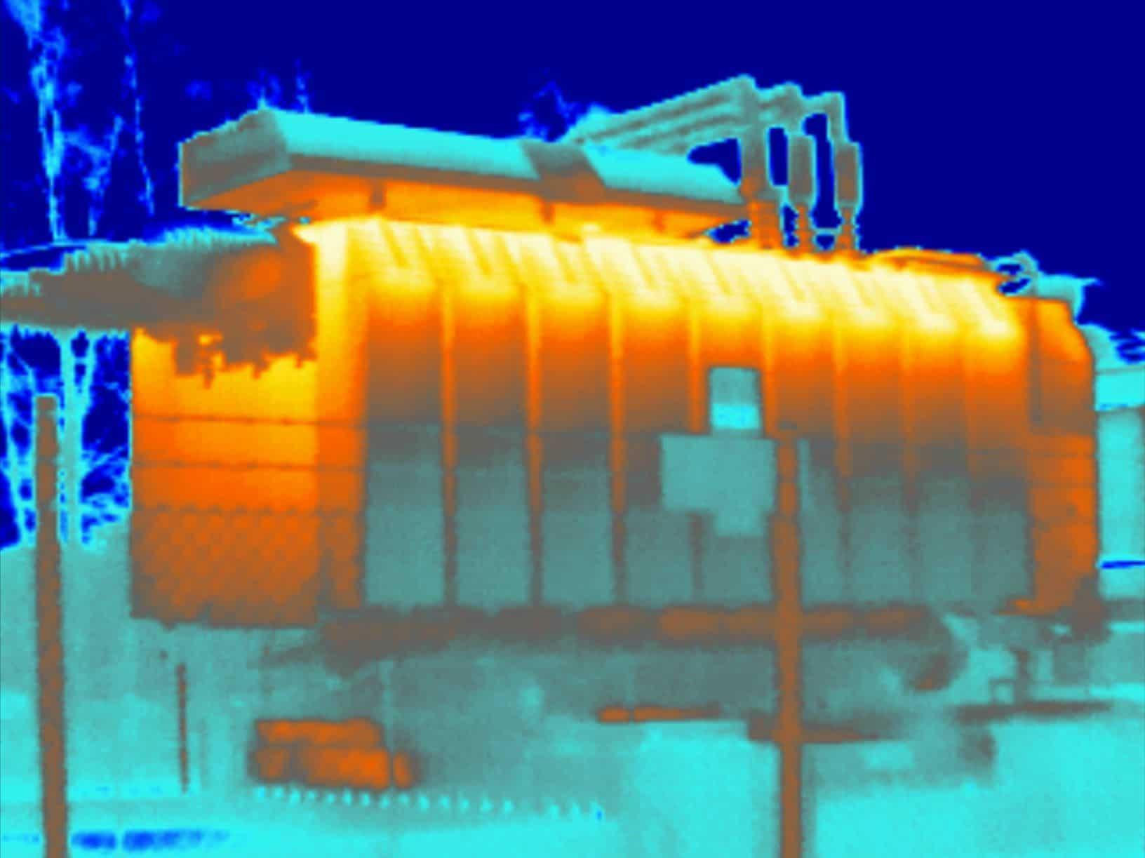 Conditiemonitoring en thermografie oliegevulde transformator