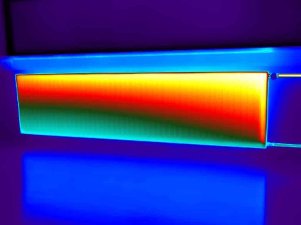 Controle van radiatoren met thermografie