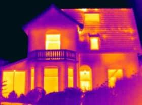 Thermografie bij een villa in Baarn