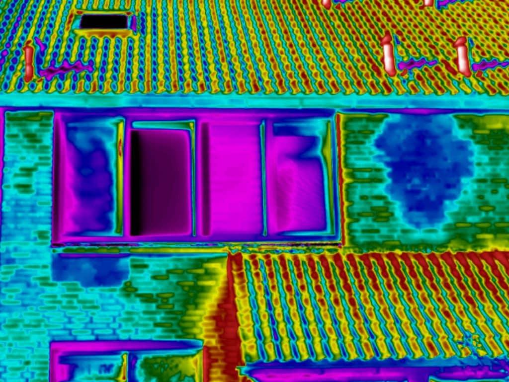 Thermografie bij vochtplek op gevel in Groningen
