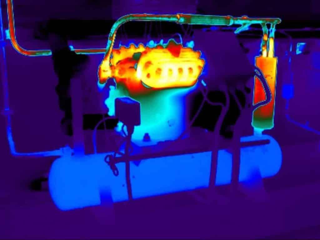 Industrie thermografie compressor vriescel