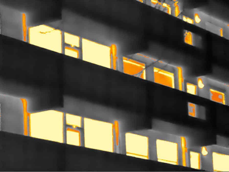 Gebouw thermografie bij een VVE in Amsterdam
