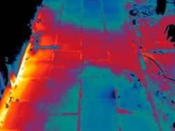 Thermografie bij warmtenet voor Warmtestad, onderdeel van het Waterbedrijf Groningen