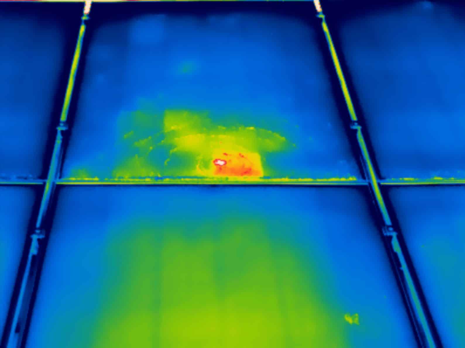 Thermografie inspectie bij opsporen schade zonnepanelen