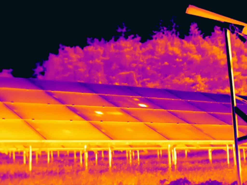 Controle van zonnepanelen met thermografie