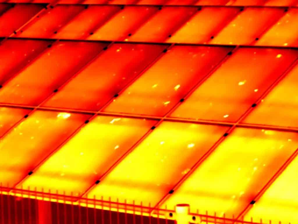Thermografie bij een zonnepark op Ameland